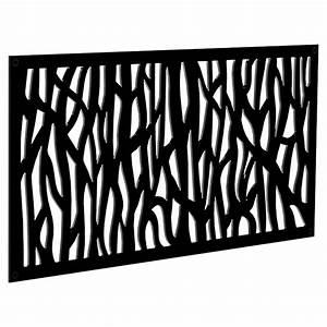 Panneau Décoratif Extérieur : panneau d coratif d 39 ext rieur sprig 2 39 x 4 39 noir rona ~ Premium-room.com Idées de Décoration