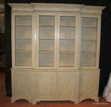 Painted Bookcases Uk by Painted Breakfront Bookcase Antique Bookcases