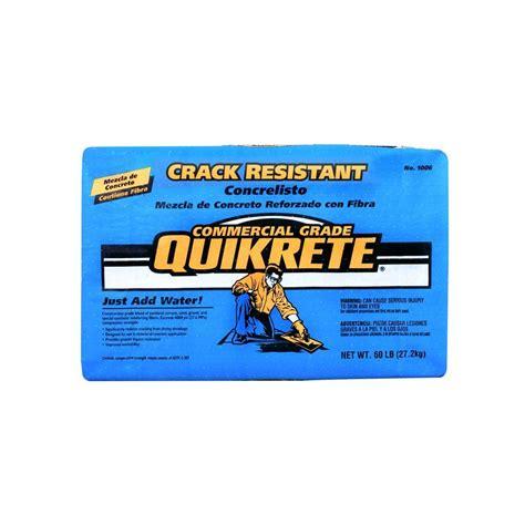 quikrete  lb crack resistant concrete mix ab