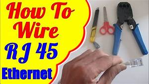 How To Wire Rj45 Cat 5 -5e