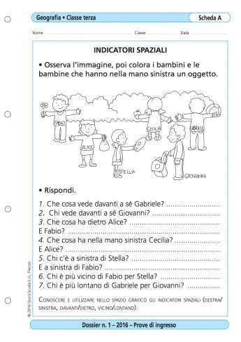 Prove D Ingresso Classe Terza Primaria Prove D Ingresso Geografia Classe 3 La Vita Scolastica