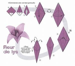 Fleur En Origami Facile : origami fleur de lys projects to try pinterest ~ Farleysfitness.com Idées de Décoration