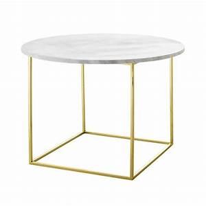 Table Basse Marbre But : table basse plateau marbre blanc bloomingville sur cdc design ~ Teatrodelosmanantiales.com Idées de Décoration