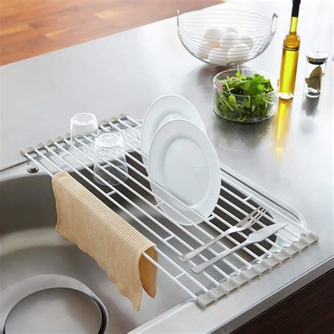 yamazaki home plate   sink folding drying rack walmartcom walmartcom