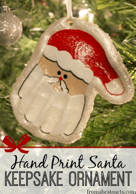 cute  fun christmas handprint  footprint art