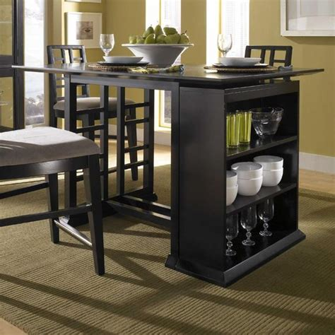 perspectives counter height pub table  storage unit