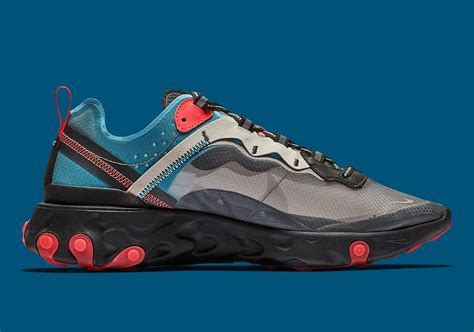 Where To Buy Nike React Element 87 Blue Chill Solar Red