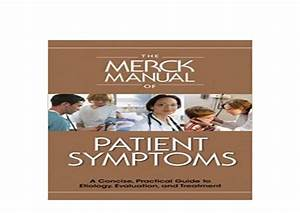 Paperback   Library The Merck Manual Of Patient Symptoms A