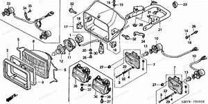 Honda Atv 1998 Oem Parts Diagram For Headlight