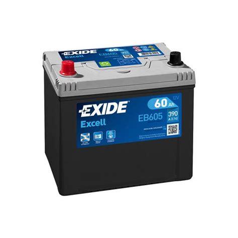 1x Exide Excell 60ah 390cca 12v Type 002 Car Battery 3