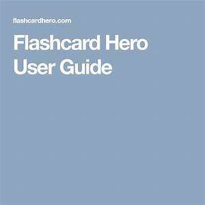 Flashcard Hero User Guide
