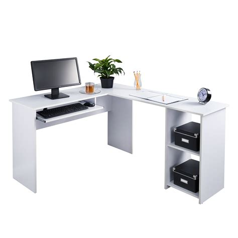 Ameriwood Computer Desk With Shelves White by Desk With Side Shelves Whitevan
