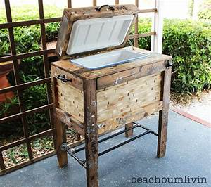 Ana White Rustic Wood Cooler Box made from Pallets
