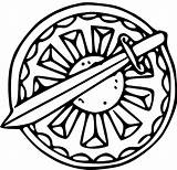 Shield Coloring Ctr Sword Clip Pages Clipart Lds Viking Colouring Printable Triumph Cliparts Template Link Library Popular sketch template