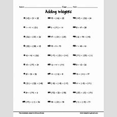 Free Adding Integers Worksheet (3 Terms) By Breeze Through Math Tpt