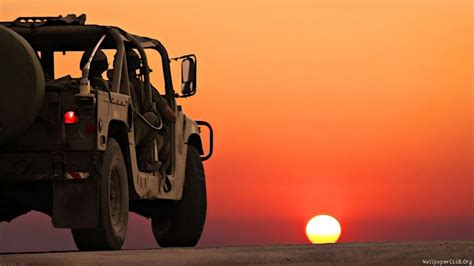 Sunset Desert Jeep Car Wallpapers