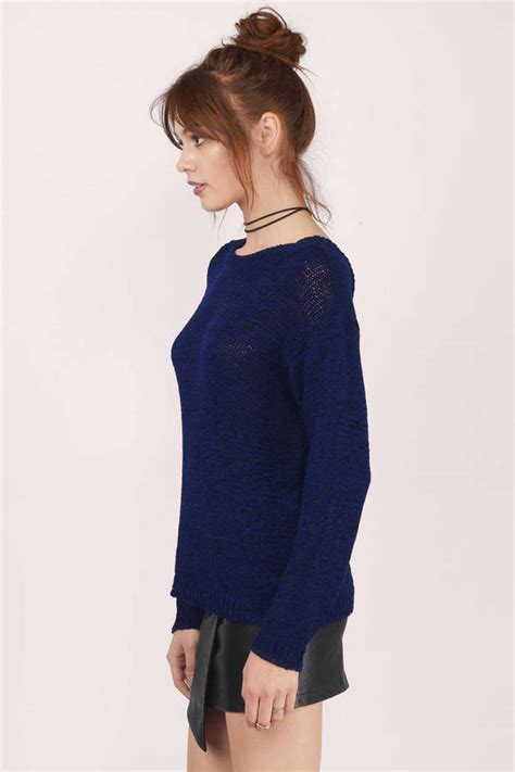 navy sweater blue sweater long sleeve sweater navy