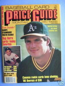 1986 donruss jose canseco rc #39. Baseball Card PRICE GUIDE December 1988 Jose Canseco   eBay