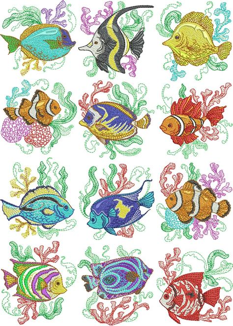 Under The Sea | Machine Embroidery Designs By Sew Swell