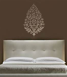 Wall art stencil large paisley 36quot exotic india ethnic for Wall art stencils