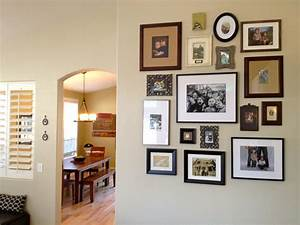 Wall picture collage ideas living room eclectic with for A frame house decorating ideas