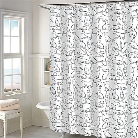 bed bath and beyond kitchen curtains pict cats shower curtain in white bed bath beyond