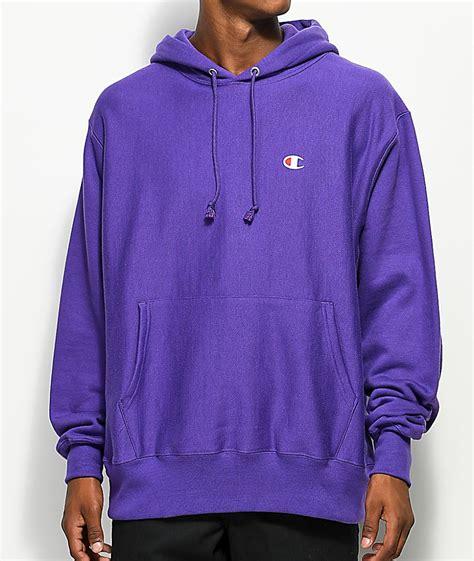 Hoodie Purple chion mens hoodies sweatshirts weave purple