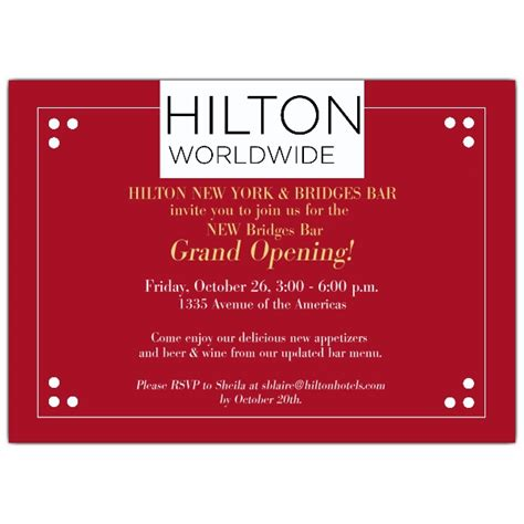 dotted corner logo red grand opening invitations paperstyle