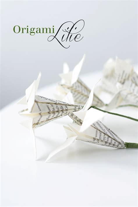 einfache papierblumen falten anleitung papierblumen falten origami lilien corner shelves