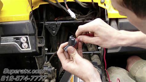 can am commander light wiring harness install atv