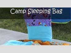 How to Make a Kids Camp Sleeping Bag Tutorial GYCT Designs