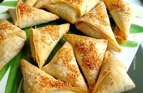indian cuisine a of pea and potato samosas