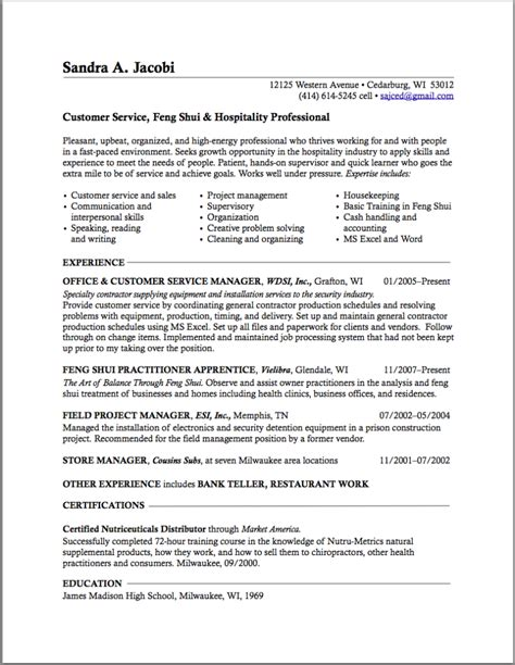 resume format resume writing for career change