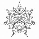 Geometric Coloring Pages Designs Printable sketch template
