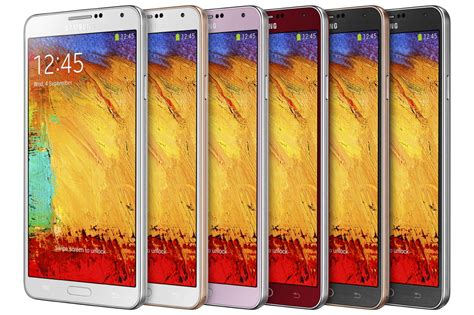 Samsung Announces Merlot Red And Rose Gold Galaxy Note 3