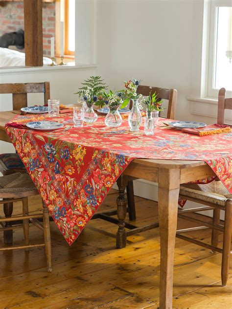 wildflowers tablecloth kitchen table linens tablecloths designs by april cornell