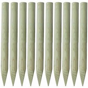 Piquet En Bois Pour Cloture : poteau en bois achat vente poteau en bois pas cher les soldes sur cdiscount cdiscount ~ Farleysfitness.com Idées de Décoration