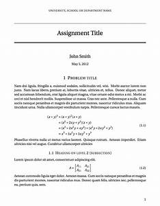 latex templates short sectioned assignment With latex homework template