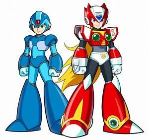 Rockman X and Zero   Mega man, Mega man 2, Video game art