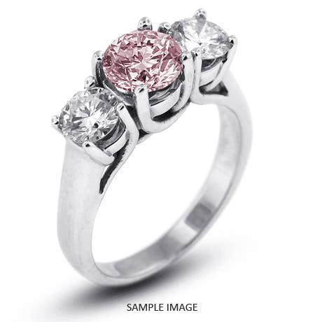 platinum classic style trellis three stone engagement