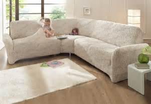 sofa bezug ecksofa mit ottomane ecksofa husse beige stretchhusse sofahusse husse stretch sofa bezug neu ebay