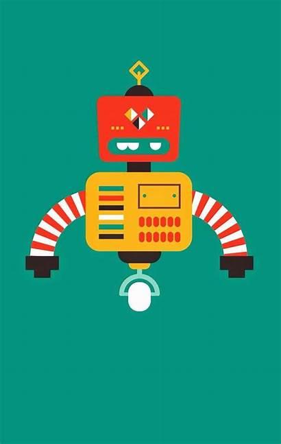 Robot Clipart Clip Robots Orange