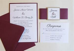 burgundy wedding invitation with belly band beige and With burgundy wedding invitations online