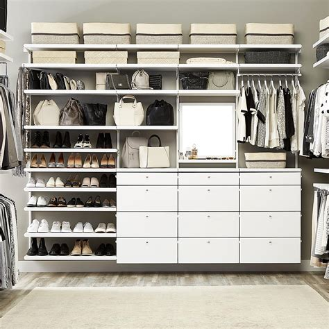 white elfa d 233 cor his hers walk in closet the container