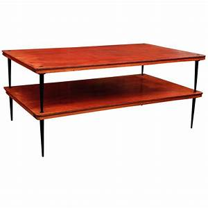 french mid century modern two tier coffee table at 1stdibs With mid century two tier coffee table
