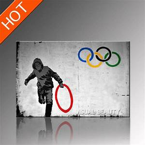 2018 Olympic Banksy Artwork Canvas Art Prints Poster Art