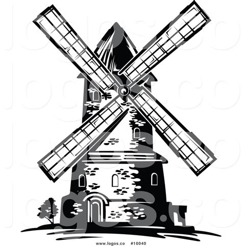 Drawn Windmill Cartoon Pencil And In Color Drawn