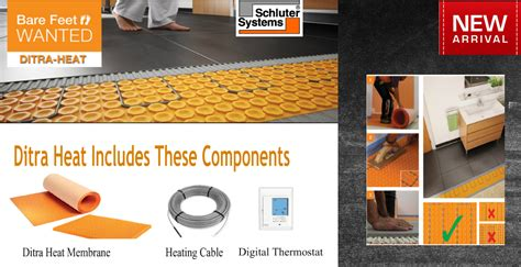 Schluter Heated Floor Kit by Ditra Heat E Kits Schluter System Discount