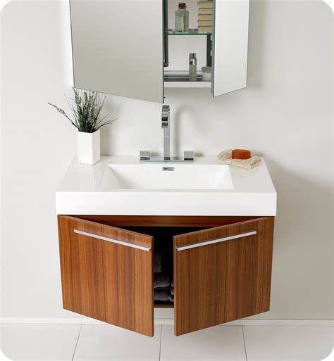 Modern Bathroom Sink Cabinets Uk by 35 5 Quot Vista Single Vanity With Medicine Cabinet Teak A