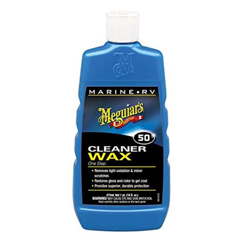 Meguiars Boat Wax Kit by Meguiars M5032 Marine Boat Rv Cleaner Wax One Step 32oz